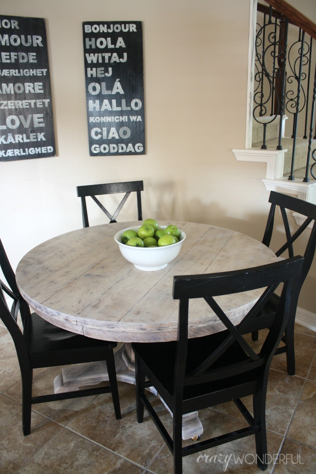 Bleached Wood Look With Liming Wax Crazy Wonderful - Bleached wood dining table