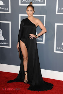 Jennifer Lopez Pictures in Black Long Dress at The 55th annual Grammy Awards 0008