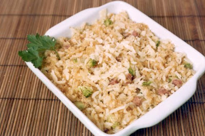 Risoto de frango light