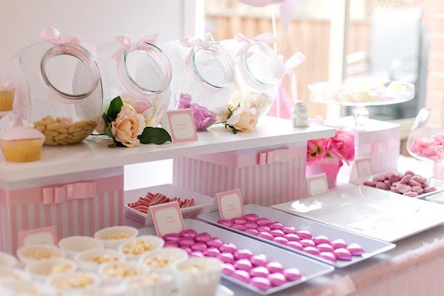Party Hat Candy Buffet Table For Girls