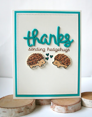 Thank You Card by Jess Crafts featuring Lawn Fawn Sending Hedgehugs