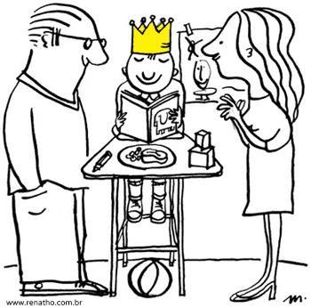 Pais mimando os filhos - Não trate seus filhos como reizinhos