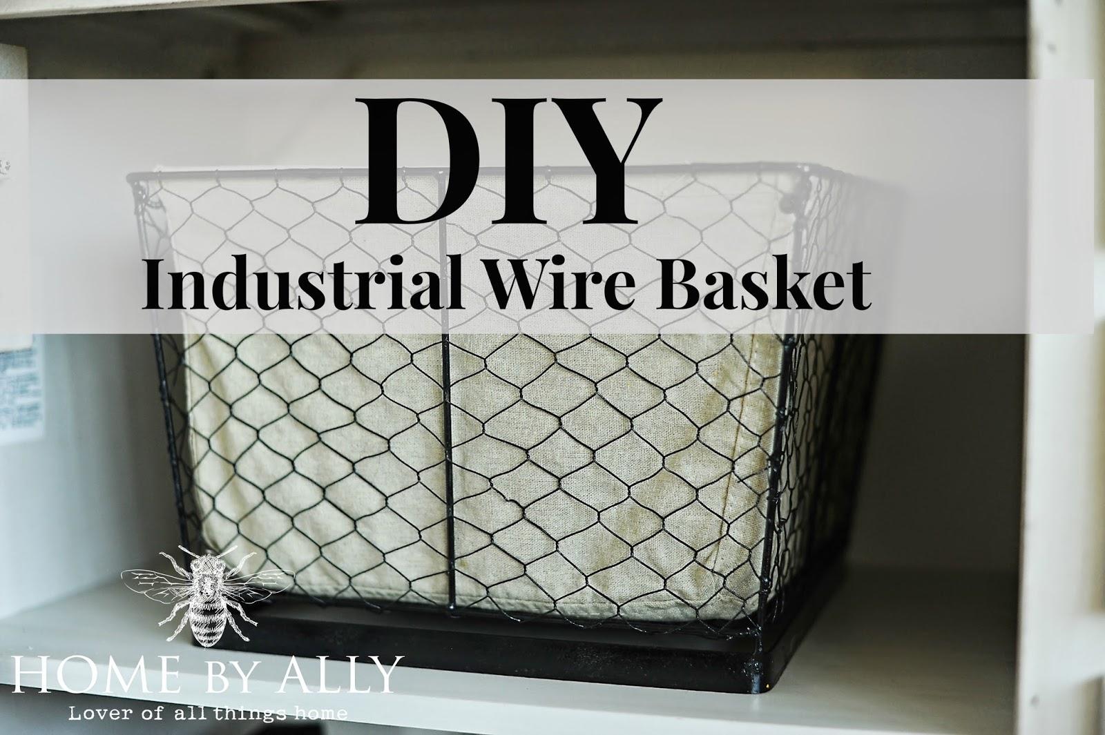 En Wire Basket Diy | Home By Ally Diy Industrial Wire Baskets