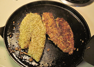cooking parmesan-crusted fish