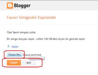 Blogger Dersleri - Blogger Favori Simgesini Yapılandır