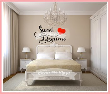 Sweet Dreams Heart Wall Decal