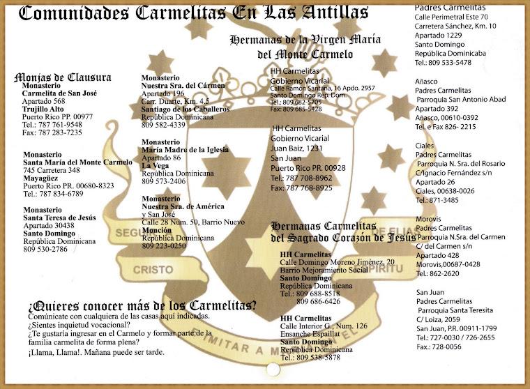 COMUNIDAD CARMELITA EN LAS ANTILLAS