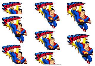 Etiquetas superman para imprimir
