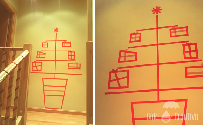 arbol washi tape gota creativa