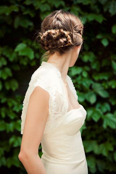 esküvői perec fonat