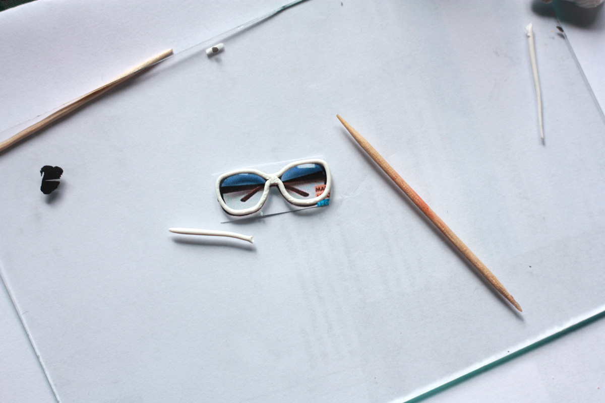 Как сделать тёмные очки 661