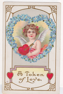 vintage postcard valentine for collage