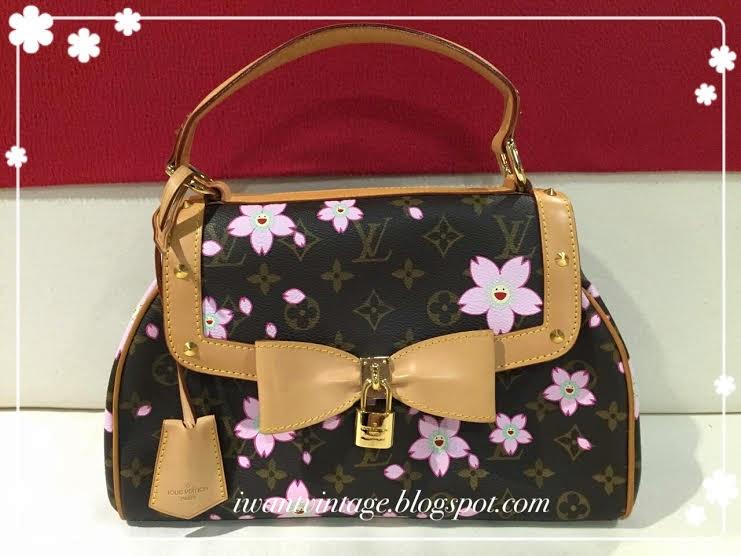 Louis Vuitton Limited Edition Cherry Blossom Sac Retro Satchel Handbag e981d1a3849