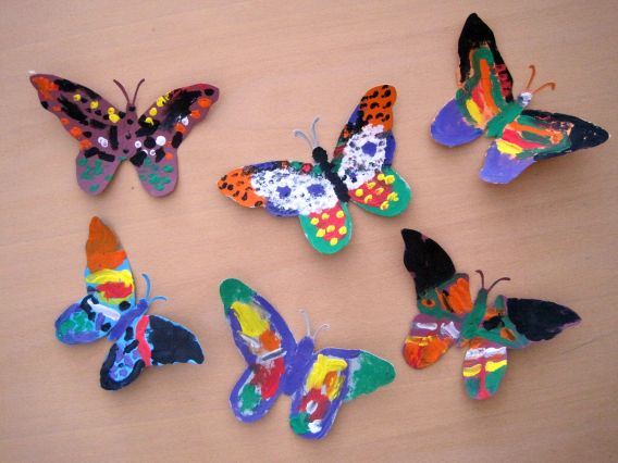 And I Additionally Made Few More Zentangled Butterflies Like These