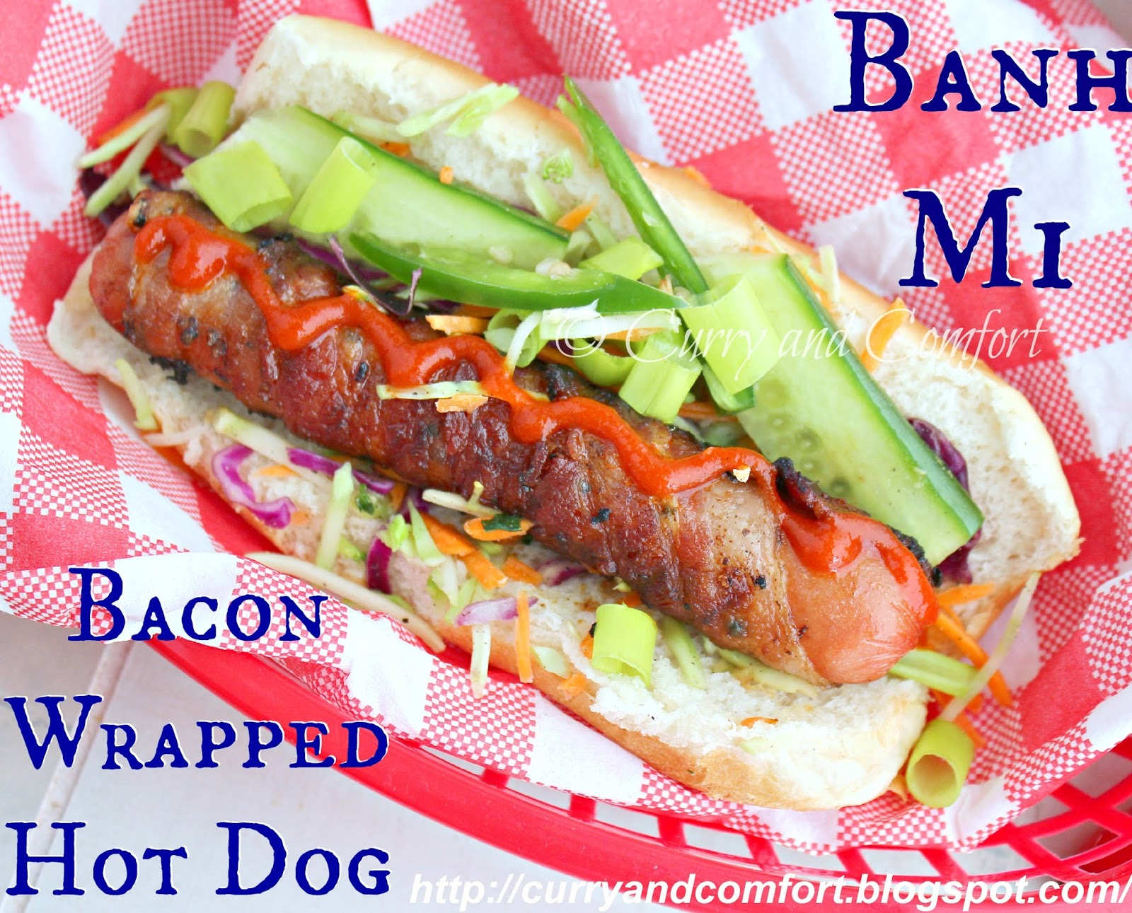 Kitchen Simmer: Banh Mi Bacon Wrapped Hot Dog #goodcookcom