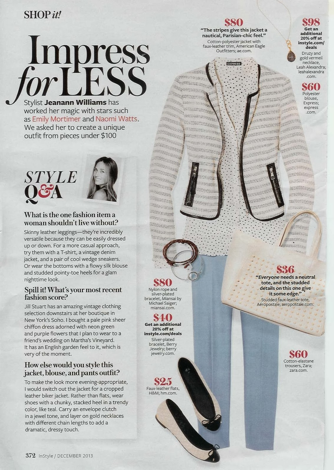 Express shirt in magazine, Express star portofino, Express In Style, Star shirt