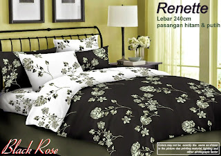 Sprei-Renette-Motif-Black-Rose