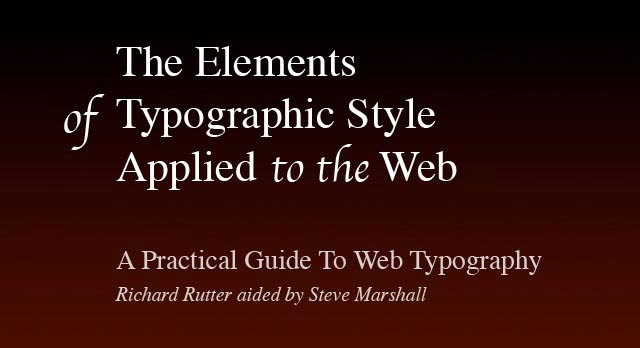 A Practical Guide To Web Typography