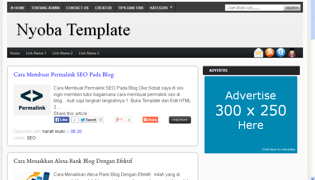 Download Template SEO Harrafi