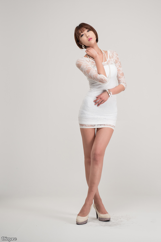 4 Yu Ji Ah - Lovely Ji Ah In Studio, 3 Outfits - very cute asian girl-girlcute4u.blogspot.com