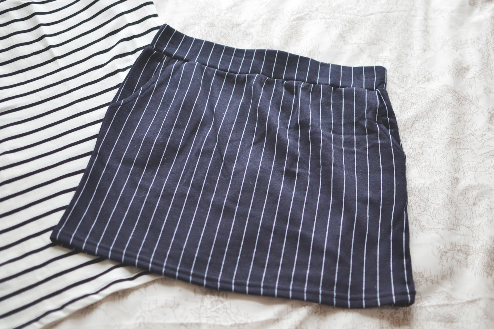 stripy skirt, striped skirt