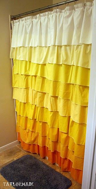 Decoro sin decoro cortina de ducha con volantes - Cortinas con volantes ...