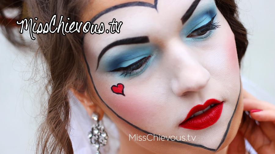makeup from the Tim Burton Queen Of Hearts Makeup Tim Burton