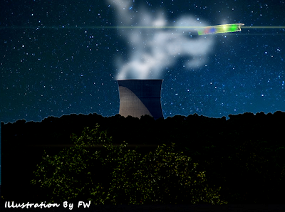 'Platform-Like' UFO Spotted Hovering Over Nuke Plant