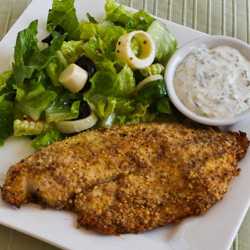Baked Tilapia with an Almond-Parmesan Crust