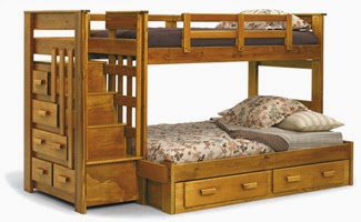 Nice Bunk beds with Stairs is a popular design that is loved by adults and children alike Children love this design because it looks unique and cool