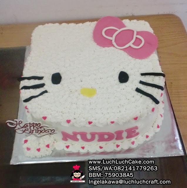 Kue Tart Hello Kitty 3D Daerah Surabaya - Sidoarjo