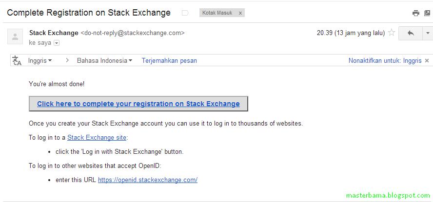 Cara Memasang OpenID Di Blog Dengan Stackexchange