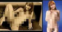 yang tersebar di Internet adalah foto liarnya tanpa seurat benang
