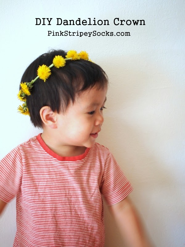 how to make a dandelion crown