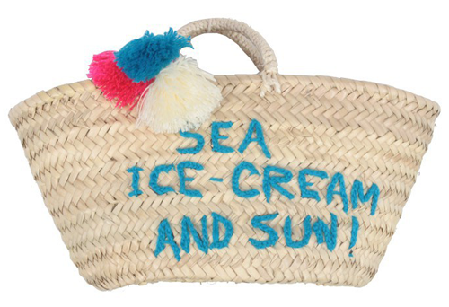 Sea, Ice Cream & Sun Basket by Rose In April from smallable