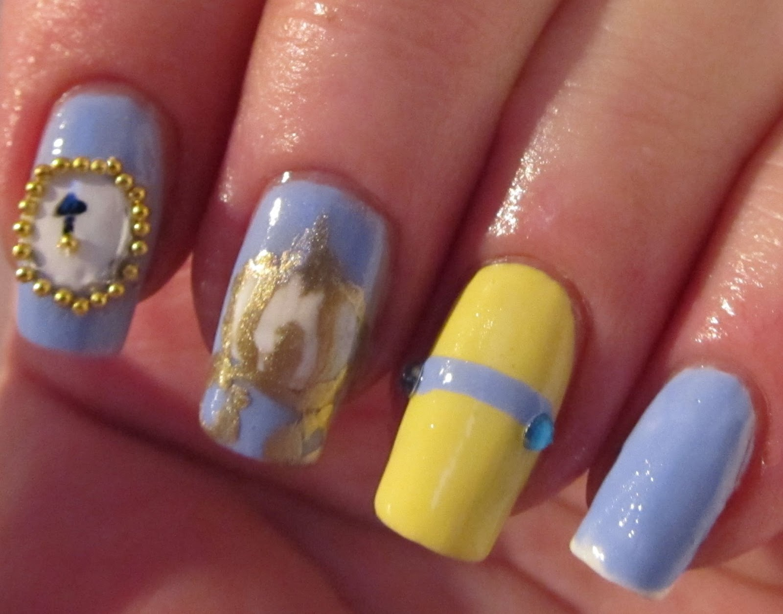 Its All About The Polish Disney Princess Challenge Cinderella Nails