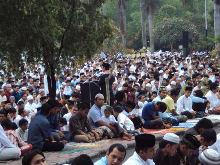 suasana idul adha di kampus universitas muhammadiyah malang