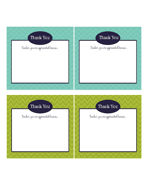 Free Teacher Appreciation Printable Notes