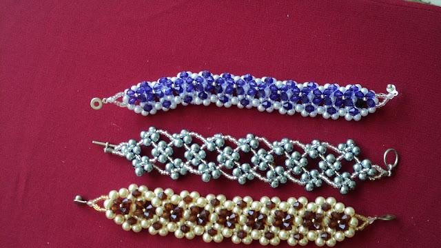 Aprendiendo sobre tembleques y algo más: Pulseras de perlas y ...