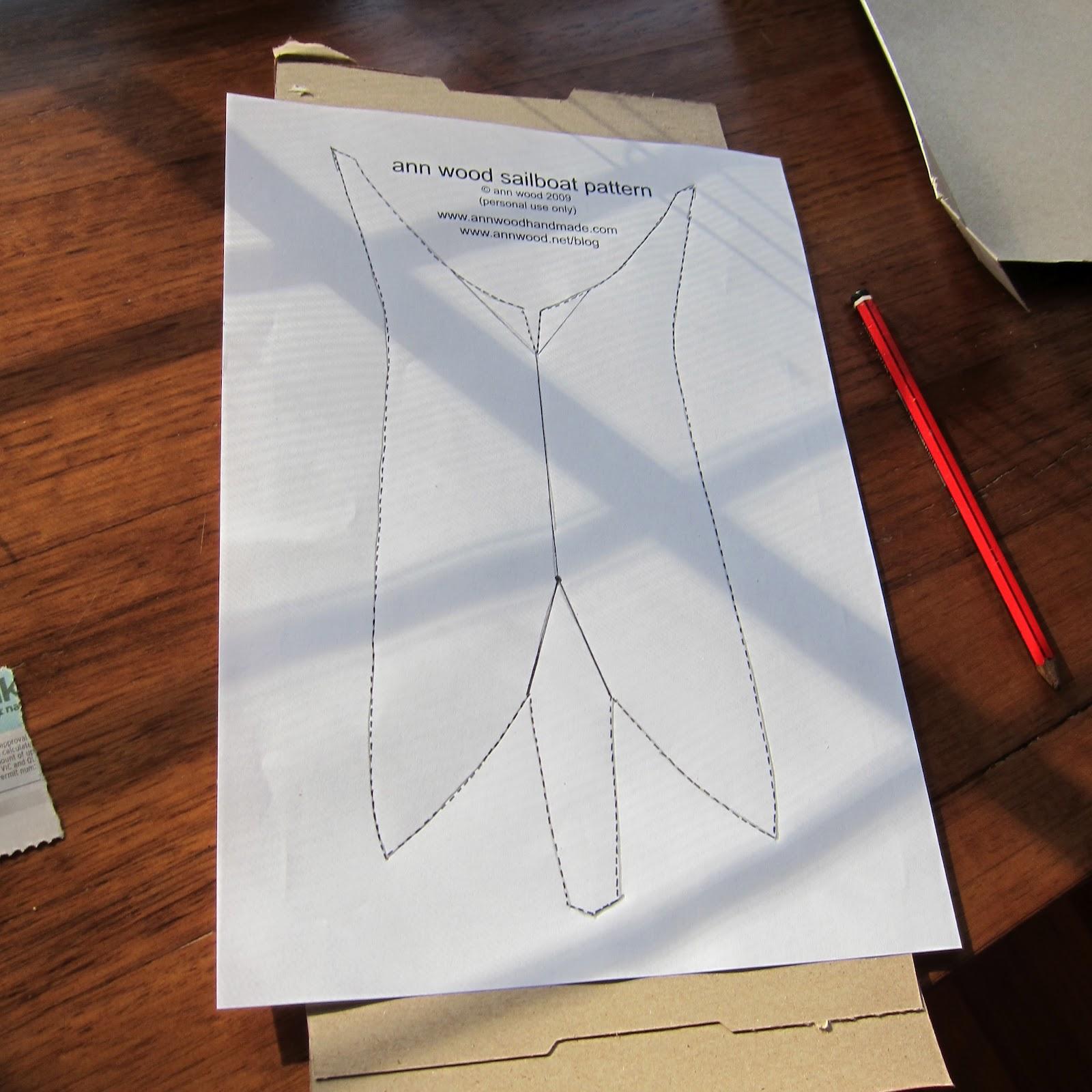 Alice Blue Gown: paper mache boat
