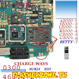 Nokia n95 charging not save fake charging  jumper diagram hardware solution