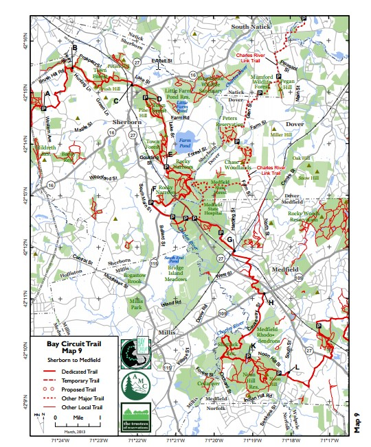 Breakheart Outdoors: Bay Circuit Trail Map 9 - Ashland To Sherborn ...