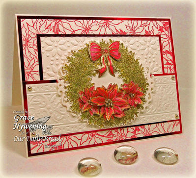 Our Daily Bread Designs Stamps - Poinsettia Wreath, Poinsettia Background