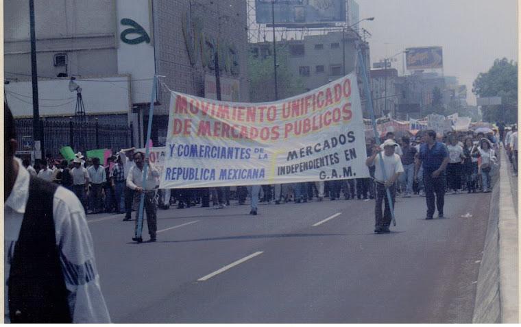 MOVIMIENTO UNIFICADO DE MERCADOS (MUM) MARCHANDO VS DE LOS IMPUESTOS ALTOS 1997
