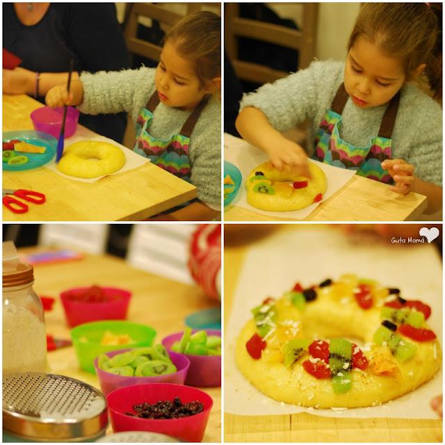 Roscon de Reyes sin lacteos Taller en La cocinita de Mama Campo