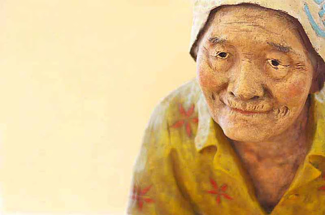 grandmother,Okinawan,lifelike statue
