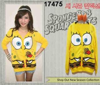 kardigan-wanita-rajut-spongebob