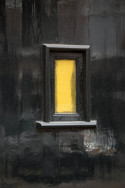 yellow door window