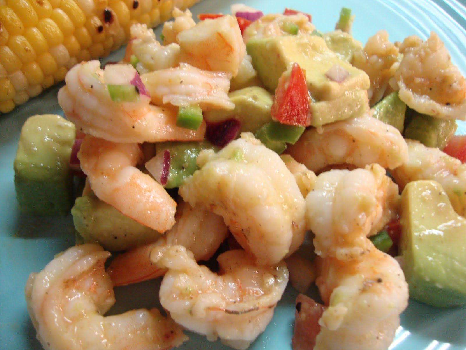 ... this recipe for zesty lime shrimp and avocado salad i couldn t wait