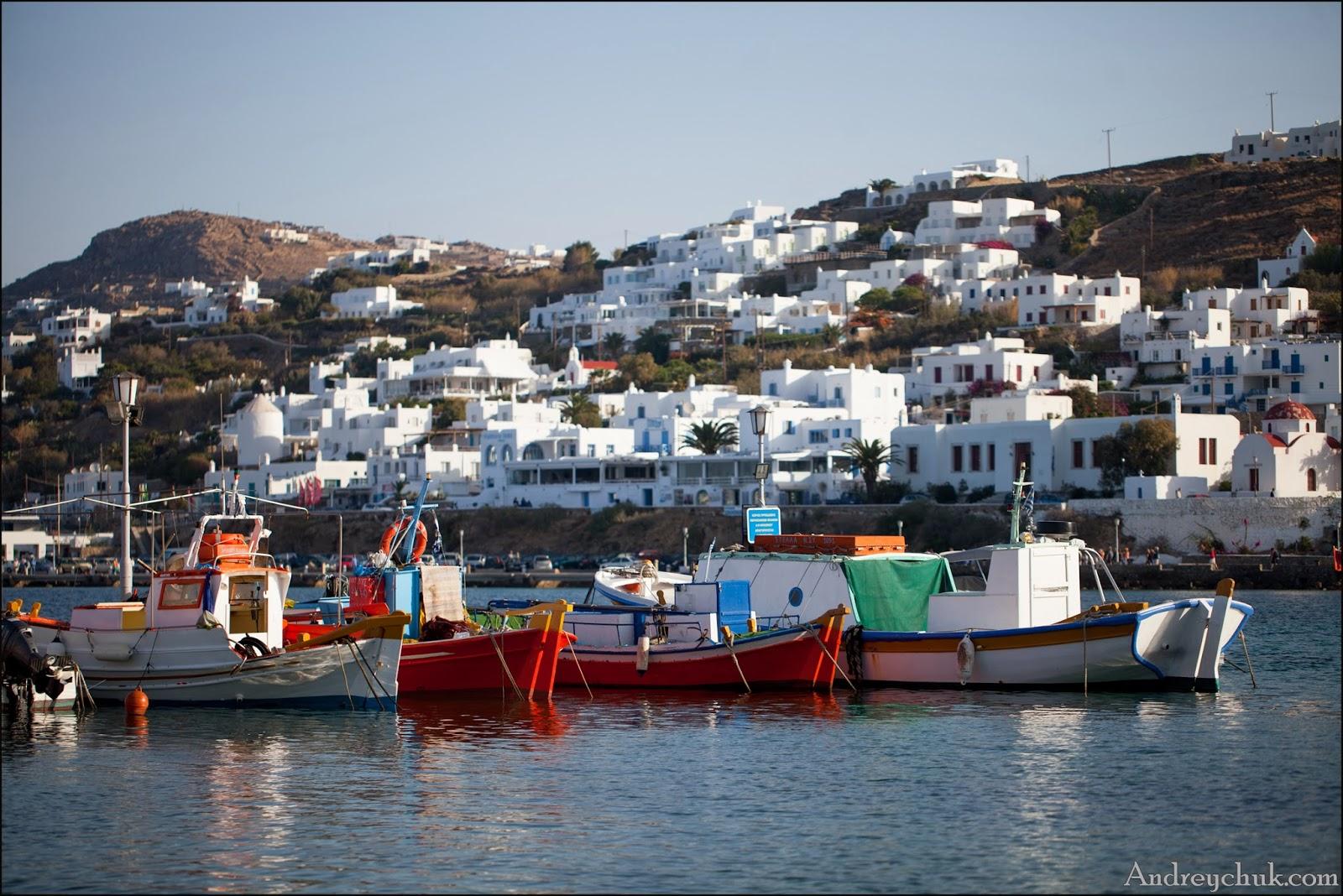 Миконос, рыбаки